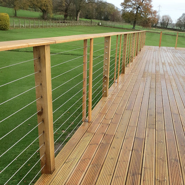 Easy to install Stainless Steel marine grade cable fence kits creating stylish fencing for around your pool or garden.