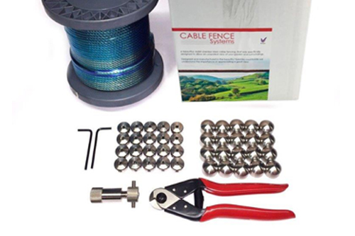 Full Stainless Steel marine grade wire and Cable fencing kit for outdoor decking, gardens, pools and internal stairs and rails